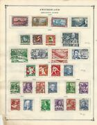 Switzerland Collection 1878 To 1940 On 11 Scott International Pages