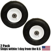 2 Flat Free Solid Tire Front Caster Wheel 9x3.50-4 Fits Ferris Mower 1521181