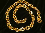 """Money Chain 22kt Gold Plated"""" Atocha Museum Quality"""" Jewelry 1715 Fleet Escudos"""