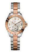 Guess Gc A70003l1 Sport Class Xl - S Glam Watch Silver And Rose Gold Stainless