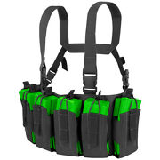 Condor Army Tactical Barrage Chest Rig Mag Carrier Airsoft Police Security Black