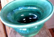 Vintage Aqua Green Art Pottery Vase Bowl Abstract Pacific NW?