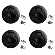 4pcs 2 Slam Latches Hatch Round Pull With Lock 1/4and039and039 Door For Marine Boat