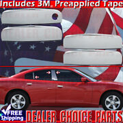 For 2011-2019 Dodge Charger Chrome Door Handle Covers+6pc Stainless Pillar Posts