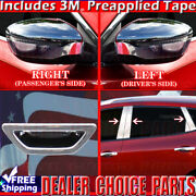 For 2014-2019 Nissan Rogue Chrome Mirror Covers+stainless Pillar Posts+tailgate