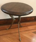 Antique Side Table With Deer Legs