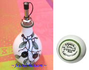 Italian Hand-Painted Ceramic OLIVE OIL BOTTLE Made In Italy for FRENCHMAISON New