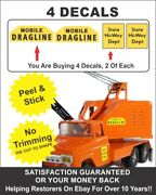 Vintage Mighty Dump Crane Truck Mobile Dragline State Hwy Decal Decals For Tonka