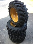 10-16.5 Trac Chief Xt Skid Steer Tires/wheels/rims For Caterpillar-10x16.510 Ply