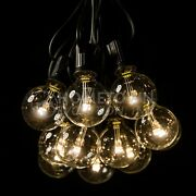 G40 Led Clear Outdoor Patio Globe String Lights 100and039 50and039 And 25and039 Lengths