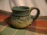 Tom Briney Signed Hand-thrown Pottery Mug Montana Art Forest Floor