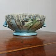 Roseville Pottery Moss Console Bowl, 291-6 1936 Super Mold & Colors EXC