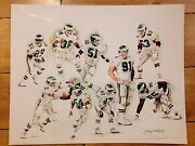 Extremely Rare Philadelphia Eagles Print By Jerry Thierolf 23/25 Signed Artist