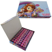 New 60pc Sofia The First Self Inking Stamp Set Kid School Supplies Party Favors