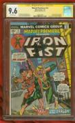 Marvel Premiere 16 Cgc Ss 9.6 Stan Lee 2nd Iron Fist 1974 Defenders Tv Show