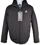 Z296 New Gerry Solid Black Windbreaker Outer Jacket X-large 395