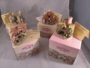 4 David Winter Cottages, 1983 With Original Boxes And Coas Wow