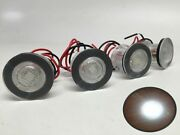 Pactrade 4pcs Boat Led Livewell Round Button White Courtesy Light Oem Waterproof