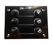 Pactrade Marine Boat 3 Gang Bakelite Plate Switch Panel W/ 5a Fuses