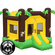 Commercial Grade 17x13 Bounce House 100 Pvc Inflatable Jungle Jumper W Blower