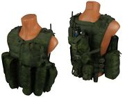 Molle Paintball Milsim Vest Army Rus Airsoft Modular Chest Rig Kit 61 Emr Pixel
