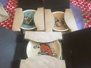 3 Norman Rockwell On Tour Newell Pottery Decorative Collector Plates 1,2,3 Box