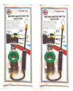 Set Of 2 Ptc-sw-105 Fused Battery Terminal Master Switch For Car Truck Boat Rvs