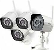 Wireless Security Camera System Set Of 4 Smart Hd Outdoor Wifi Ip Cameras Zmodo