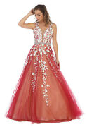 Formal Evening Military Ball Dress A-line Prom Pageant Red Carpet Gown Sweet 16