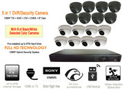 Security Camera System 1080p Hd 16ch Channel Dvr 2tb Hdd And 2.8mm Fixed Cam X8