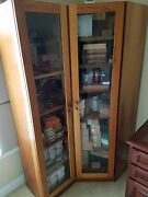 Cigar Store Corner 6.5and039 Humidor Storage Glass Cabinet Container Retro Vintage