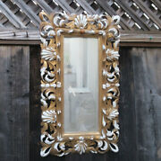 Giltwood Frame For Plaque Painting Florentine Rococo Antique Italy Shabby Mirror