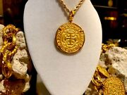 Treasure Pendant Necklace Mexico Royal 1715 Fleet Shipwreck Jewelry Gold Plated