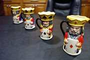 Royal Doulton King And Queen Hearts/clubs/spades/diamonds Toby Full Set Very Rare