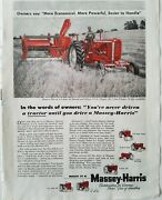1955 Massey Harris Red Tractor Plow 44 Special Pto Clipper Farming Ad