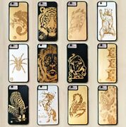 Luxury Wood/bamboo Animals Smartphone Cases Covers Apple Iphone And Samsung Gift