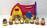 Fisher Price Little People Snow White And The Seven Dwarfs 7 House Cottage Lot
