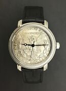 Personalized Genuine Morgan Silver Dollar Watch 1878 To 1921