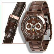 Wohler Hegel Mens Automatic Luxury Brown Ip Ss Watch New 1495