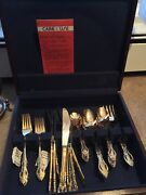24k Electro-plated Real Silver Flatware