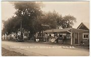 Super Real Photo Gas Station Globe Pump Advertising Signs 1920s Evans Mills My