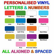 Vinyl Letters Lettering For Shops Cars Taxi Window Wall Pre-spaced