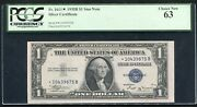 Fr. 1611 1935-b 1 One Dollar Star Silver Certificate Pcgs Uncirculated-63