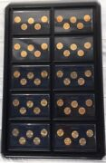 1999 To 2008 50 States Commemorative Quarters Gold Edition With Wall Display