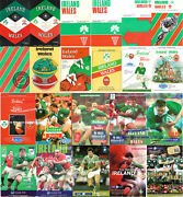 Ireland V Wales Rugby Programmes 1964 - 2006 Reduced Prices Five Nations