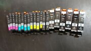 Lot Of 20 Original Canon Empty Ink Cartridges 250 And 251