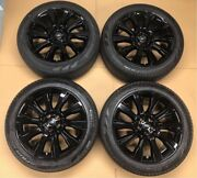 Range Rover 21alloy Wheels And Tyres Gloss Black Genuine
