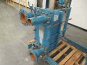 2000yr Alfa Laval Plate Type Heat Exchanger M10-mfg 4 Inlet 4 Outlet 55 Plates