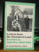 Letters From The Promised Land Swedes In America 1840-1914 Minnesota