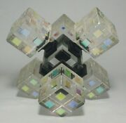 Glass Geometric Sculpture By Ray Lapsys - Jacobs Ladder 10 Custom 1/1